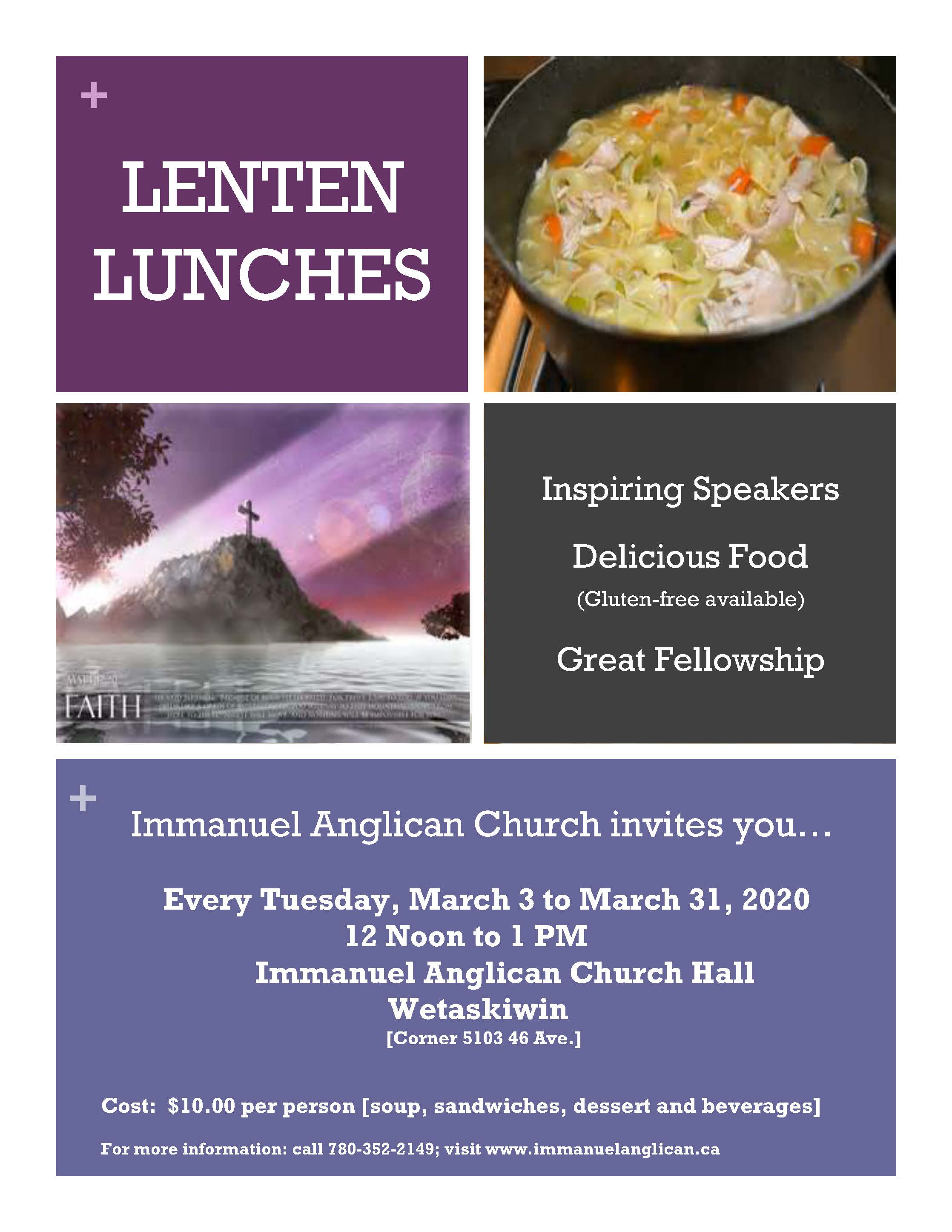 Lenten Lunches 2020 Poster