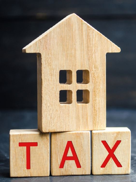 Property Tax - wooden house