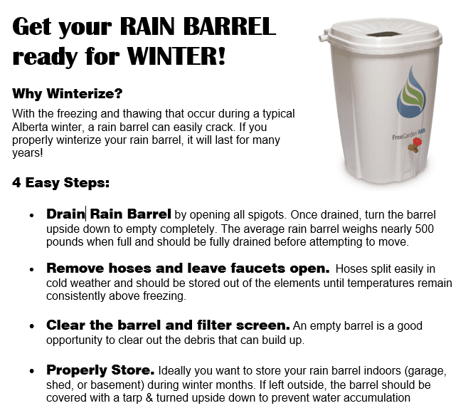 Rain Barrel Winterization_October 2020