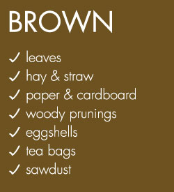 Brown Compost Materials