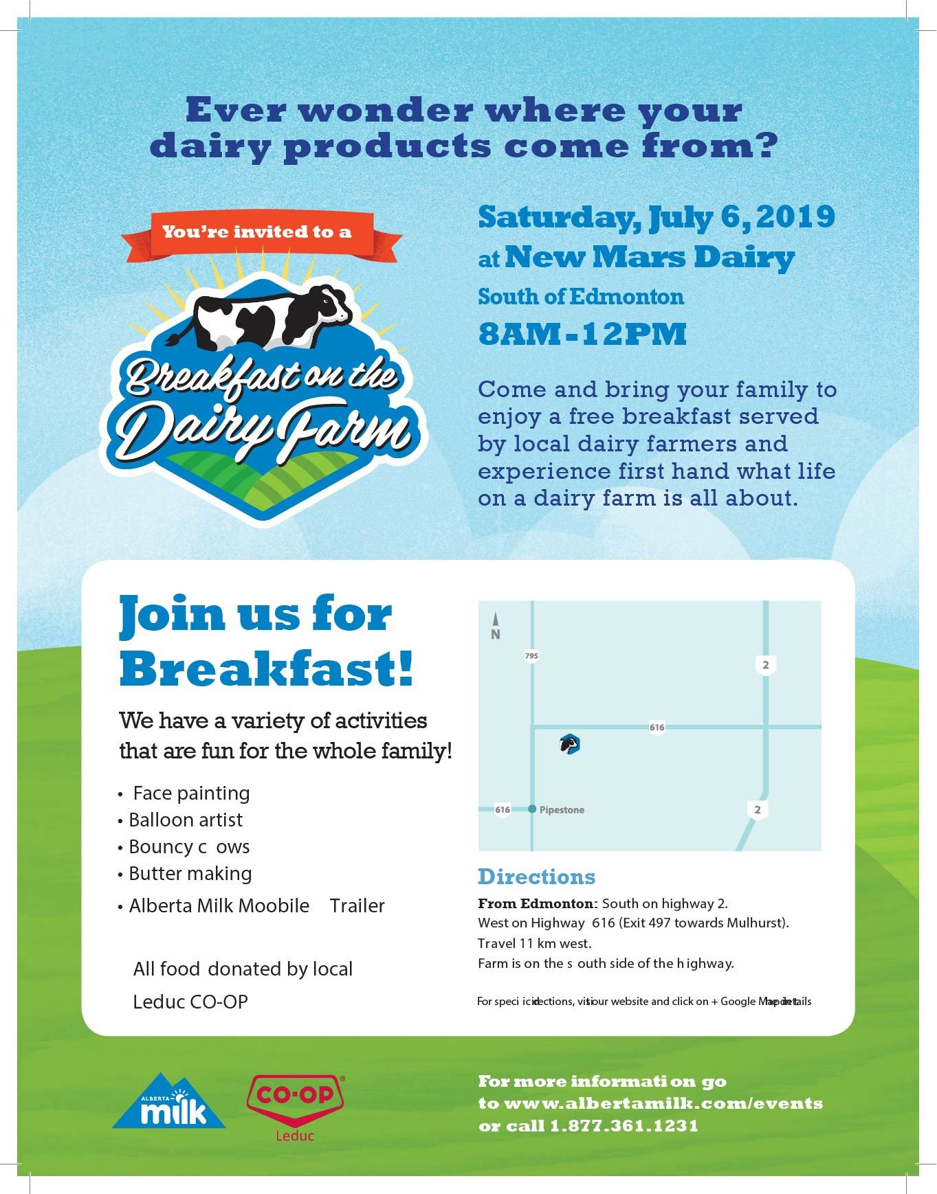 2019 Breakfast on the Dairy Farm