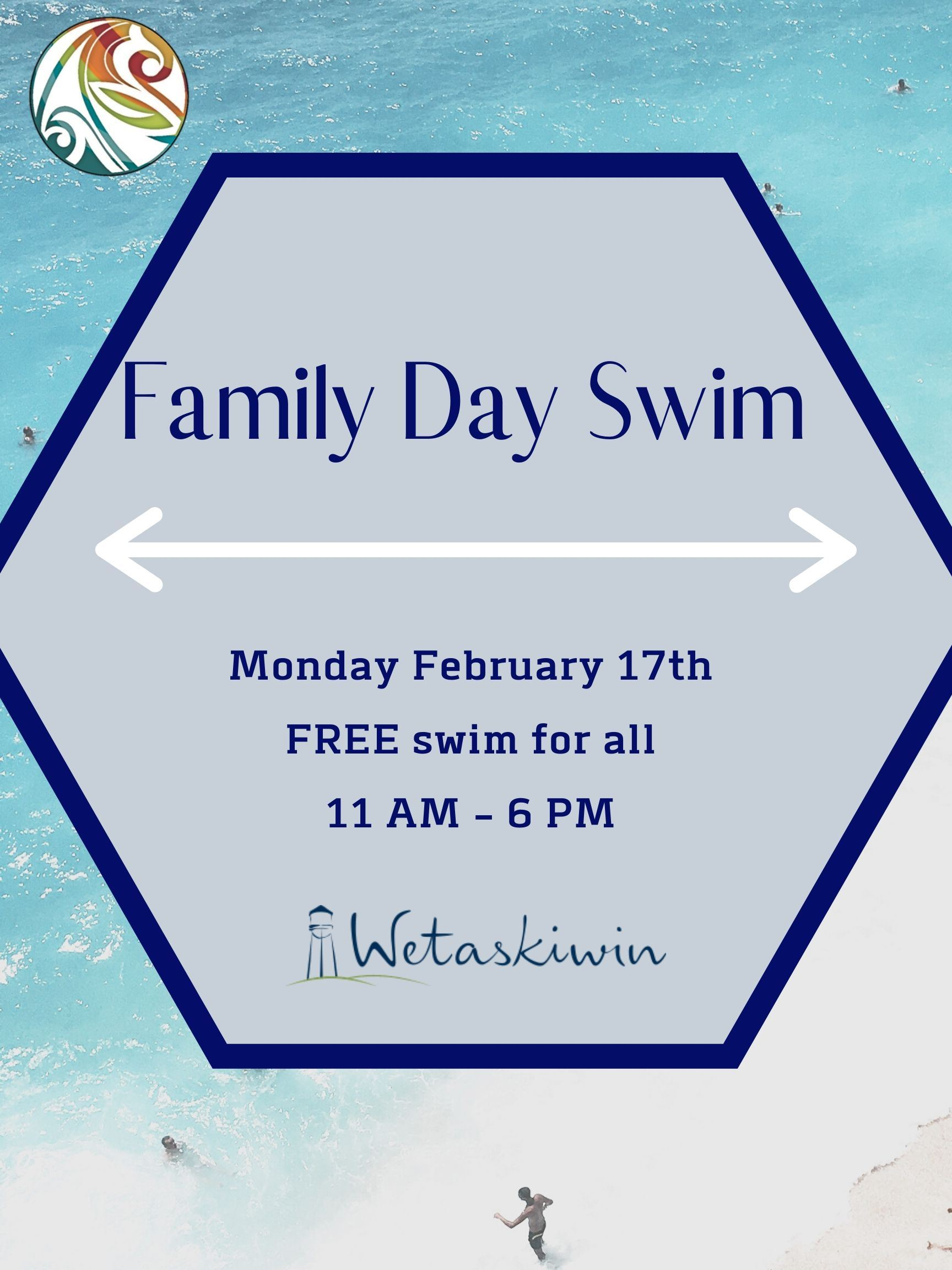 Family Day Swim Poster - Feb.17.2020